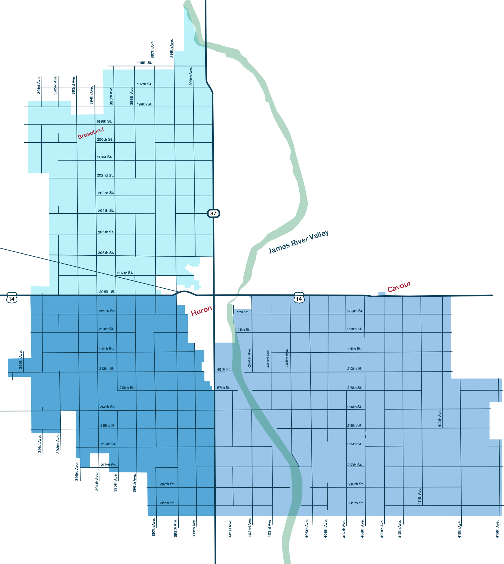 Rural Huron FiberMaxx expansion zones