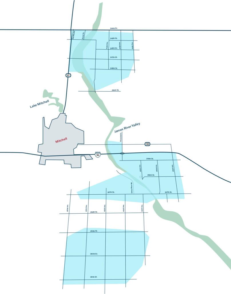 Rural Mitchell fiber expansion map